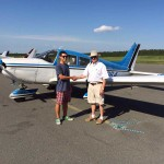 Alex Danchi, 17, passed his private pilot checkride in the mid-afternoon heat (95+ F) of June 22, 2015. He is pictured with DPE Greg Hudson in front of his family's PA28-235. Alex has been accepted to the United States Airforce Academy and will be leaving on June 24th to begin his next challenge. Congratulations to Alex for a job well done!! This young man is going places!!