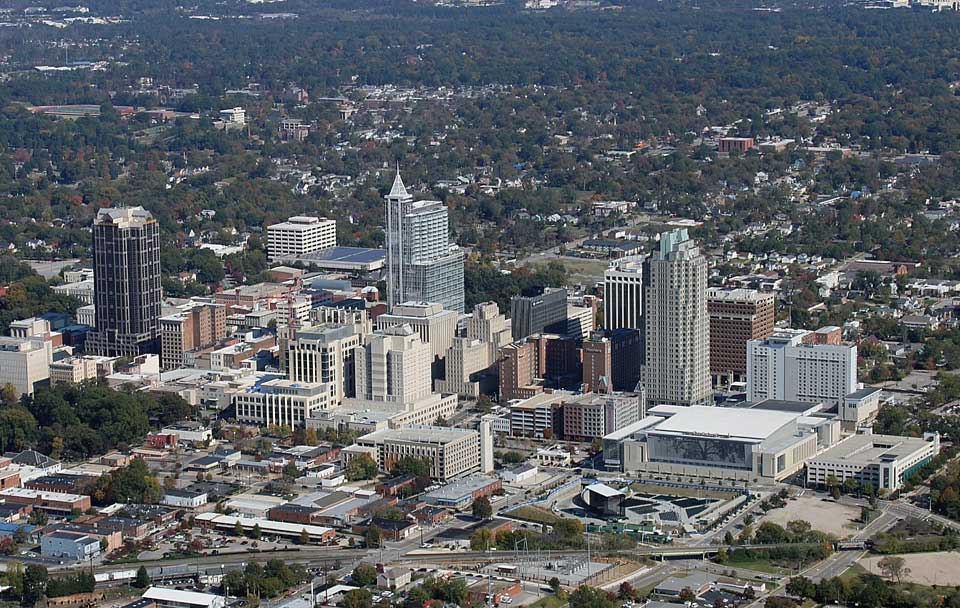 Aerial Photography Raleigh Durham North Carolina